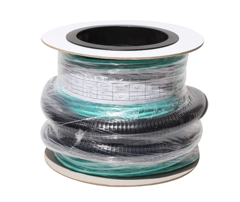 LC SC 2,4,8,12 Fibers OM2,OM3,OM4 Indoor outdoor Breakout Distribution Cable Multi-Fiber Pre-Terminated patch cord