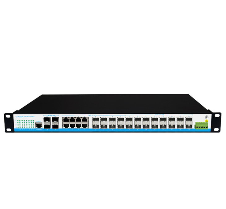 24 Ports L3 Managed Commercial POE Switch Rack Mount