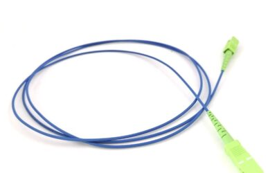 Singlemode Simplex G657A2 Fiber Patch Cord SCAPC to SCAPC 2.0mm with LSZH Blue Jacket 1.5 meters