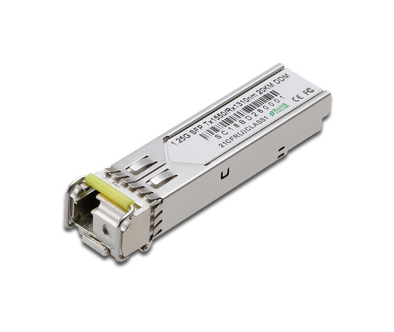 1.25G BIDI 1000BASE-BX 1550/1310nm DDM 20km compatible with  Waystream compatible